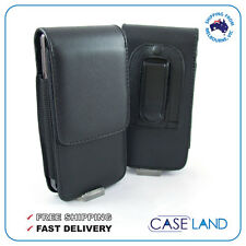 B2-VERTICAL LEATHER BELT CLIP CASE HOLSTER FOR SAMSUNG GALAXY S5 G900 -TELSTRA