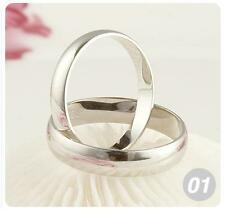 Wholesale 10pcs A+ Plated 925 Silver Lover's Plain Rings 8-11