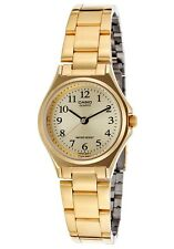 Casio LTP1130N-9B Ladies Gold Stainless Steel Casual Dress Watch Gold Dial NEW