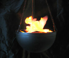 Hanging Torch Fake Flame Light Pot Halloween Party Decoration Haunted House Prop
