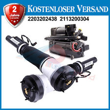 Pair Front Air Suspension Shock Compressor Pump Kit for Mercedes S Class W220