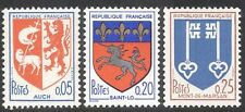 France 1966 French Towns Coats-of-Arms/Ship/Lamb/Lion/Unicorn/Keys 3v set n43027
