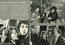 Coupure de Presse Clipping 1976 (2 pages) Annie Girardot Autopsie d'un monstre