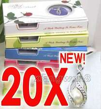 SALE 20X Box helix(drop) pendant Natural FW Pearl Necklace gift set Box -w120_20