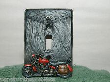 3D Raised Motorcyle Biker Electric Light Switch Wall Plate Cover~New