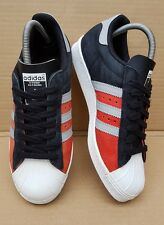 ADIDAS SUPERSTAR 80's TRAINERS WHITE BLACK RED AND ORANGE SIZE 5 UK SUEDE