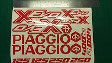 PIAGGIO XEVO Decal Sticker Set Muchos Colores Disponibles! X-EVO X Evo 125 250 400 es decir