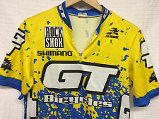 GUC Men's AUSSIE Cycling Race Shirt GT Bicycles 1/4 Zip Large Cool-max Shimano