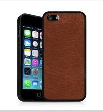 Backhug Slim Case for Apple iPhone 5 5s, Black Frame & Vintage Classic Leather