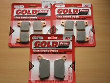 GOLD-FREN FRONT & REAR BRAKE PADS for HONDA CBR 1000 RR FIREBLADE (2012) CBR1000