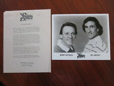 RIGHTEOUS BROTHERS  8x10 photo Press kit 1987 5 pgs