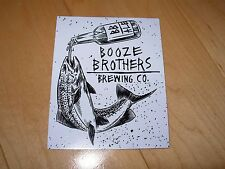 BOOZE BROTHERS BREWING CO drinking fish LOGO STICKER decal craft beer brewery