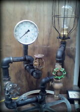 Authentic Industrial steampunk iron pipe edison lamp