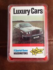Waddingtons Quartet Star Trump Top Trumps Luxury Cars Complete
