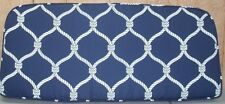 (1) Outdoor Patio Welted Bench Cushion ~ Navy Blue Rope ~ 18.5 x 42 x 4 **NEW**