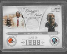 2012 National Treasures - OZZIE NEWSOME - Game Used Jersey - BROWNS #d 01/99