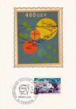 Carte 1er Jour PREVESSIN 22/X/1976 accélérateur européen de particules 400 GEV