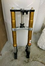 04 05 06 Yamaha YZF R1 YZFR1 OEM Front End Suspension Forks Upper Lower Trees