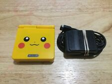 Nintendo Game Boy Advance SP Pikachu Pokemon Yellow Handheld System AGS-101 MINT