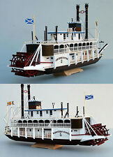1:100 US Western River Mississippi Paddle Steamboat Handcraft Paper Model Gift