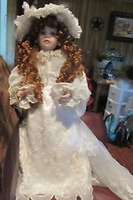 2002 Thelma Resch Victorian Bride Doll RARE! Beautiful Lace & Long Train Dress