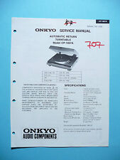 Service Manual für Onkyo CP-1007,ORIGINAL