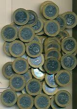 50 BI-METAL 5 PESO COINS from the DOMINICAN REPUBLIC (ALL DATING 1997)