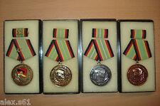 4 DDR Medaillen für treue Dienste in der Grenze 1.Satz:283-286