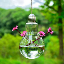 Glass Clear Hanging Flower Vase Planter Container Pot Wedding Decor Tea Light