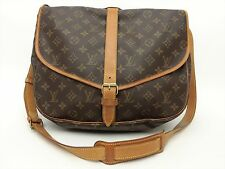 Louis Vuitton Authentic Monogram Saumur 35 Cross Body Shoulder Bag Auth LV