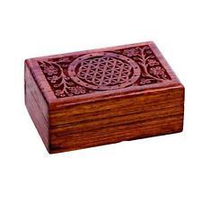Flower of Life -  Tarot/Keepsake Lined Box  ~Wood