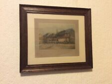 Wonderful Art Deco Oak Frame With Original Fine Art Print Pencil Signed Etching