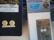 ME110 E/F RESIN WHEEL SET+PHOTOETCHED PARTS FOR ME110 C/D 1/48 SCALE MODEL