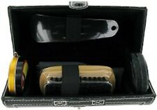 6 Piece Shoe Shine Kit Gift Set in Black Leather Pouch SHO1 by Sarome UK