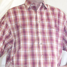 Guess Jeans Vintage Mens Short Sleeve Shirt 100% Cotton Collar Plaid Button Down