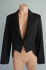 Lover the Label by Susien Chong Black Wool Tuexdo w/ Tails Jacket sz 8