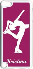 Monogrammed Purple Ice Skating iPod Touch 5th Gen 5G White TPU Hard Case Cover