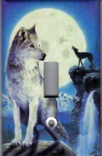 WOLF BY THE MOON - WOLVES HOME DECOR SINGLE LIGHT SWITCH PLATE COVER