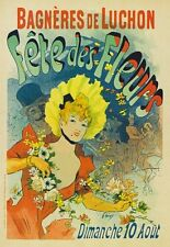 AP34 Vintage France Festival Of Flowers Advertisement Poster Card Print A5