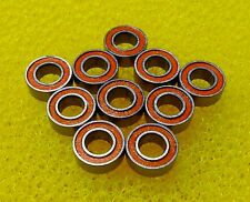 S623-2RS (3x10x4 mm) 440c CERAMIC Stainless Steel Bearing (10 PCS) ABEC-7 Orange