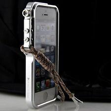 Cool Metal Case For iPhone 5 5s Se Premium Aluminum Bumper Trigger Cover +Strap