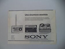 advertising Pubblicità 1961 SONY RADIO TR 724/TR 716/REGISTRATORE TC 462