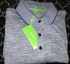NWT Hugo Boss Green Label Polo Shirt  C-rapino M Medium Blue
