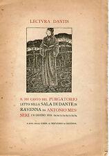 DANTE ALIGHIERI Lectura Dantis Canto XIV 14° Purgatorio Divina Commedia Romagna