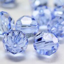 36 Swarovski Element 5000 faceted 4mm Round Ball Beads Crystal Light Sapphire