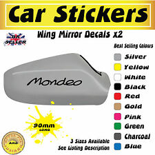 Ford Mondeo Mirror Stickers Decals 90mm Free UK Postage
