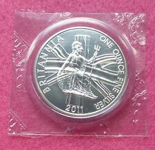 2011 ROYAL MINT BRITANNIA SILVER BU  TWO POUND COIN MINT SEALED