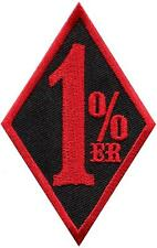 One Percenter 1%er biker outlaw motorcycle gang applique iron-on patch S-1136