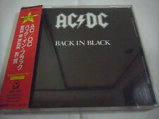 AC/DC-Back In Black JAPAN Press w/OBI Scorpions Iron Maiden Kiss Metallica
