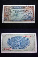 España - Billete de 5 Pesetas Madrid 4 de Septiembre de 1940 (S/C) UNC